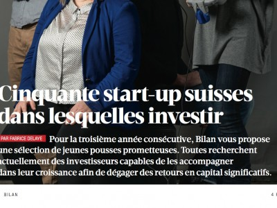 Bilan selects Xsensio as one of Switzerland's 50 startups in which to invest