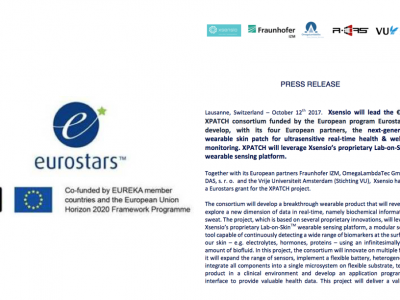 Xsensio to lead H2020 €2.4M XPATCH project with European partners