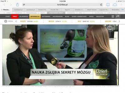 Xsensio interviewed by Polish TV