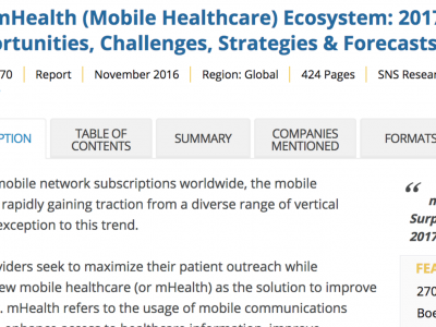 Xsensio featured as one of the leading mHealth firms globally!